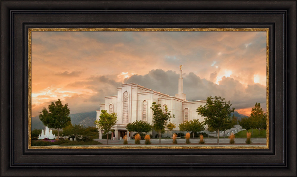 Albuquerque Temple - Fall Sky by Robert A Boyd
