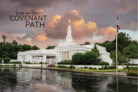Louisville Temple - Covenant Path 12x18  repositionable poster
