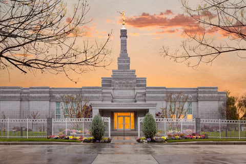 Fresno Temple - Sunrise by Robert A Boyd