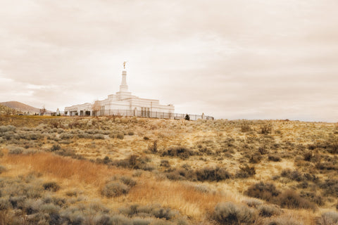 Reno Temple - Desert Hill by Robert A Boyd