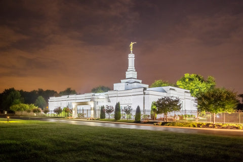 Nashville Temple - Stormy Sky by Robert A Boyd