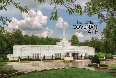 Baton Rouge Temple - Covenant Path 12x18  repositionable poster