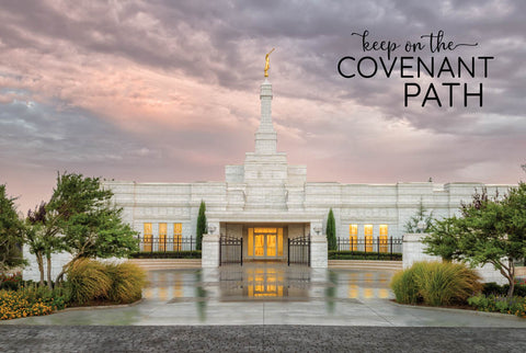 Oklahoma City Temple - Covenant Path 12x18  repositionable poster