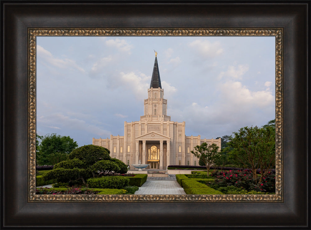 Houston Temple - Path by Robert A Boyd