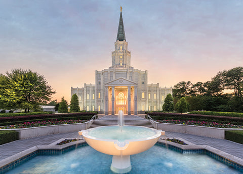 Houston Temple - Healing Waters 5x7 print