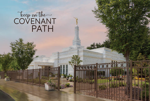 Birmingham Temple - Covenant Path 12x18  repositionable poster