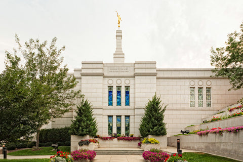Winter Quarters Temple - Flowering Wall by Robert A Boyd