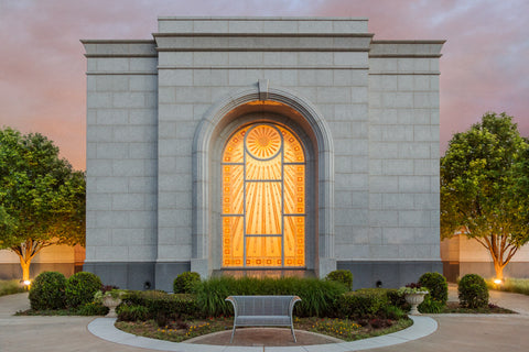 Lubbock Temple - Eventide by Robert A Boyd