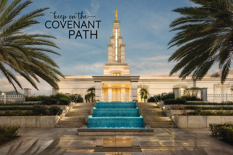 Monterrey Temple - Covenant Path 12x18 repositionable poster