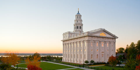 Nauvoo Temple - Looking West by Robert A Boyd