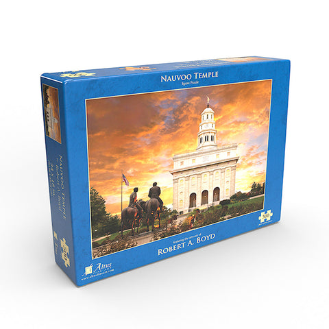 Nauvoo Temple with Statue 18x24 jigsaw puzzle 500 pieces