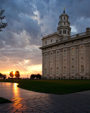 Nauvoo Temple - Path by Robert A Boyd