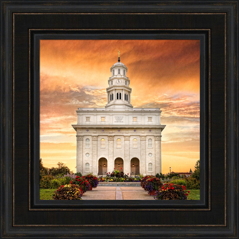 Nauvoo Temple - Nauvoo Sunrise Detail by Robert A Boyd