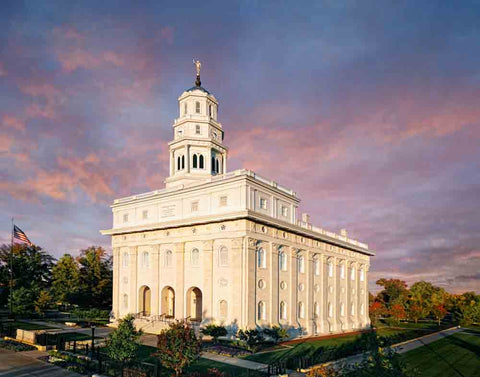 Nauvoo Temple - Fall Sky by Robert A Boyd