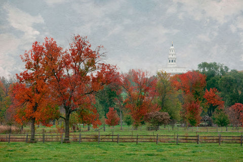 Nauvoo Temple - Fall Field by Robert A Boyd