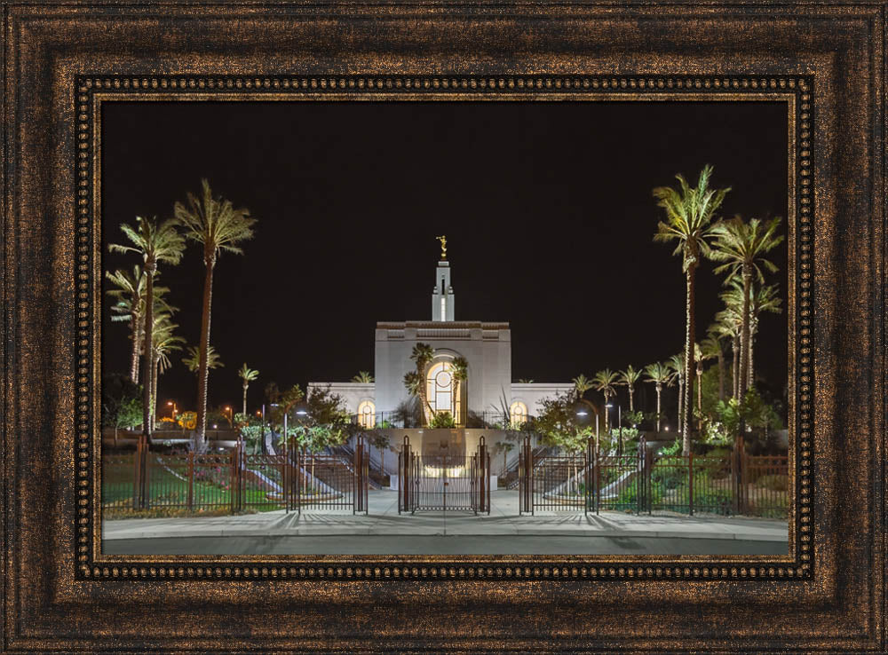 Redlands Temple - Gate by Robert A Boyd