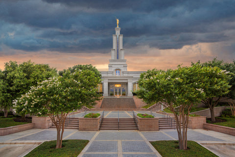 San Antonio Temple - Refuge From the Storm by Robert A Boyd