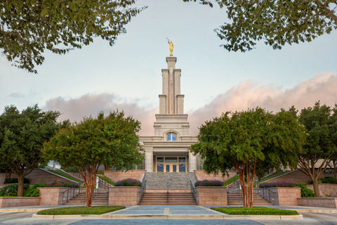 San Antonio Temple - Summer Morning by Robert A Boyd