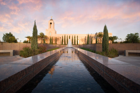 Newport Beach Temple - Reflections by Robert A Boyd