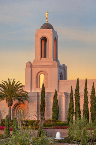 Newport Beach Temple - Sunlit Spire by Robert A Boyd