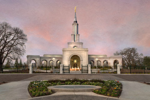 Sacramento Temple - Evening by Robert A Boyd