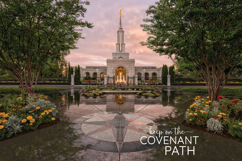 Sacramento Temple - Covenant Path 12x18 repositionable poster
