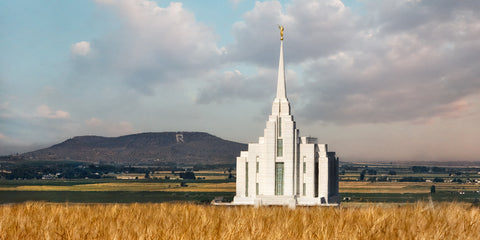 Rexburg Temple - R Mountain Panoramic by Robert A Boyd
