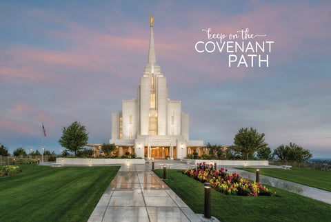 Rexburg Temple - Covenant Path 12x18 repositionable poster