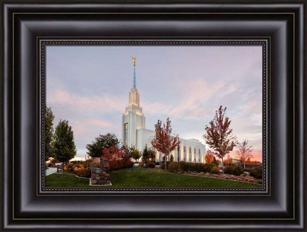 Twin Falls Temple - Sunset by Robert A Boyd