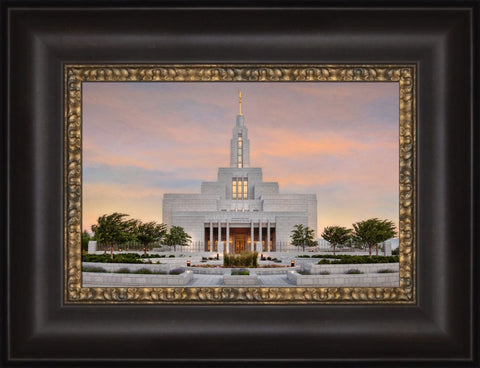 Draper Utah Temple - Sunrise 12x15 framed canvas