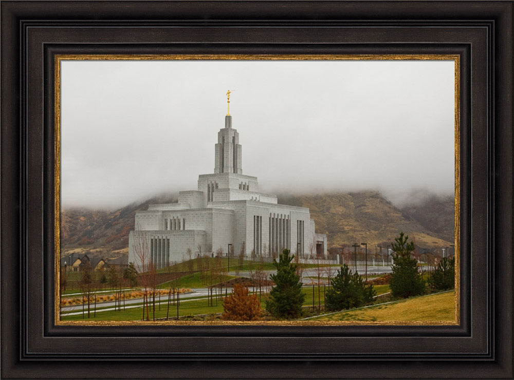 Draper Temple - In the Clouds by Robert A Boyd