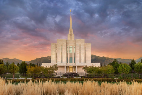 Oquirrh Mountain Temple - Refuge from the Storm by Robert A Boyd