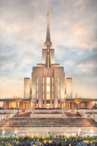 Oquirrh Mountain Temple - Chrome Series by Robert A Boyd