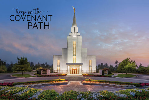 Vancouver Temple - Garden Sunset 12x18  repositionable poster