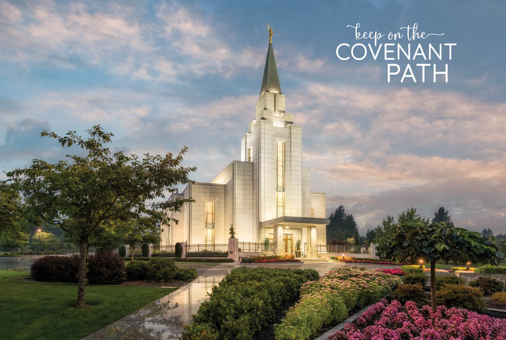 Vancouver BC Temple - Covenant Path 12x18 repositionable poster