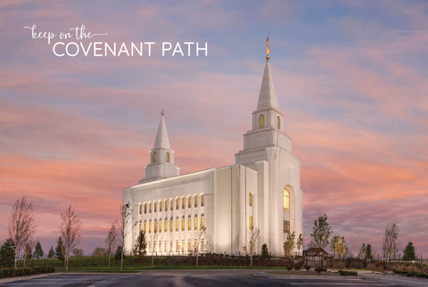 Kansas City Temple - Eventide 12x18 repositionable poster