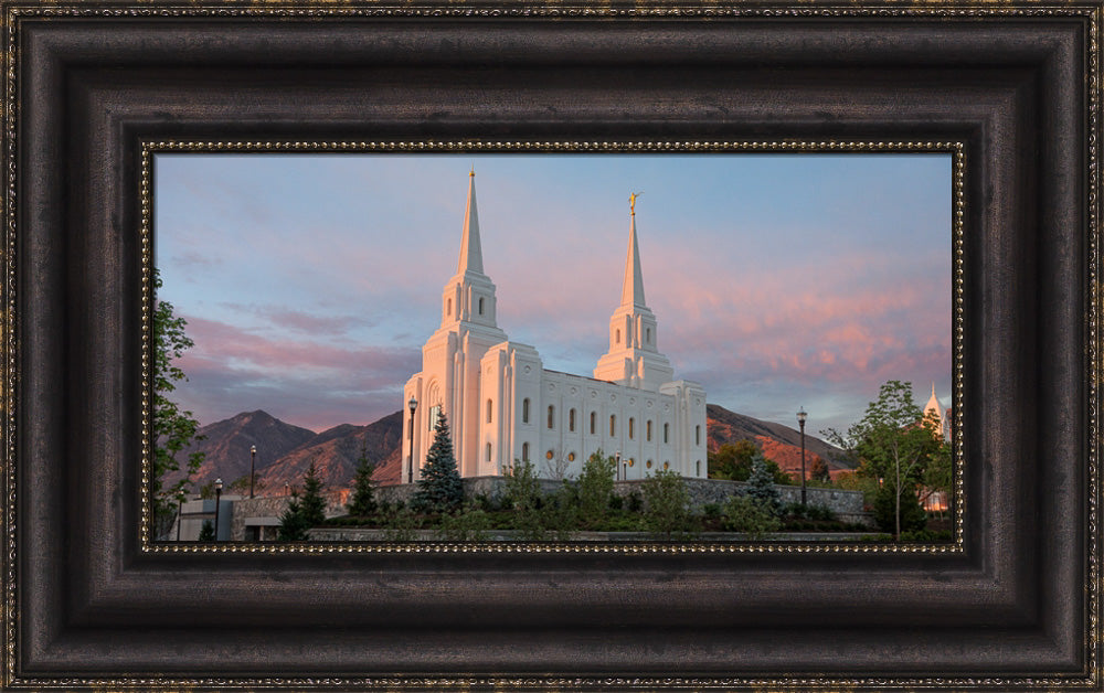 Brigham City Temple - Sunrise by Robert A Boyd