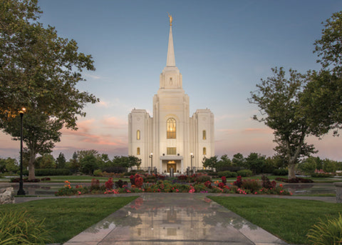 Brigham City Temple - Covenant Path 5x7 print