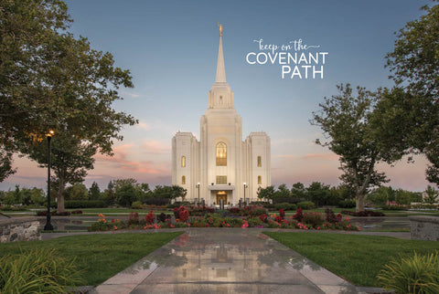 Brigham City Temple - Brigham City Covenant Path 12x18 repositionable poster