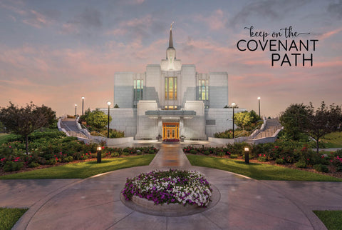Calgary Temple - Covenant Path 12x18  repositionable poster