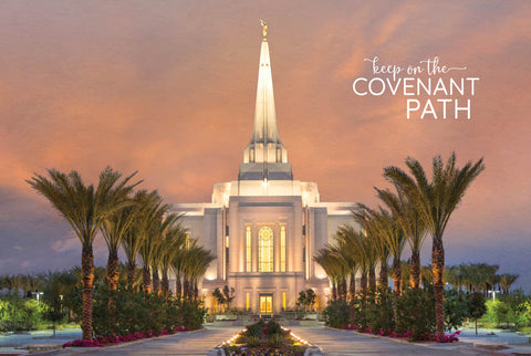 Gilbert Temple - Palm Trees 12x18 repositionable poster