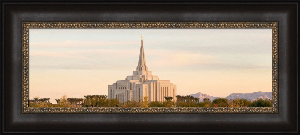 Gilbert Temple - Mountain Wide Panoramic by Robert A Boyd