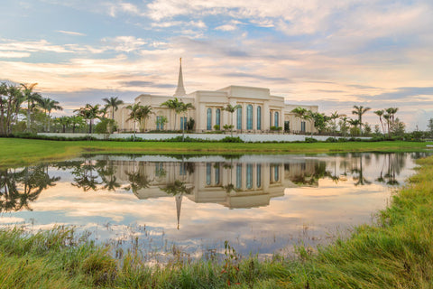 Fort Lauderdale Temple - Reflection Pond by Robert A Boyd