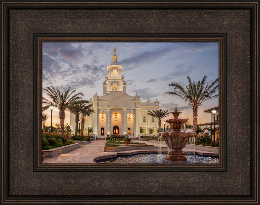 Tijuana Temple - Palm Trees by Robert A Boyd