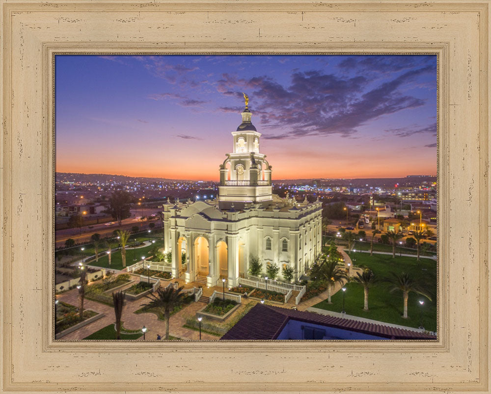 Tijuana Temple - Sunset by Robert A Boyd
