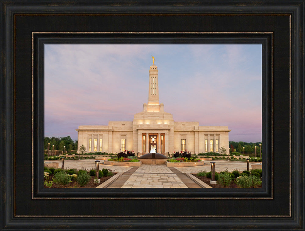 Indianapolis Temple - Temple Path by Robert A Boyd