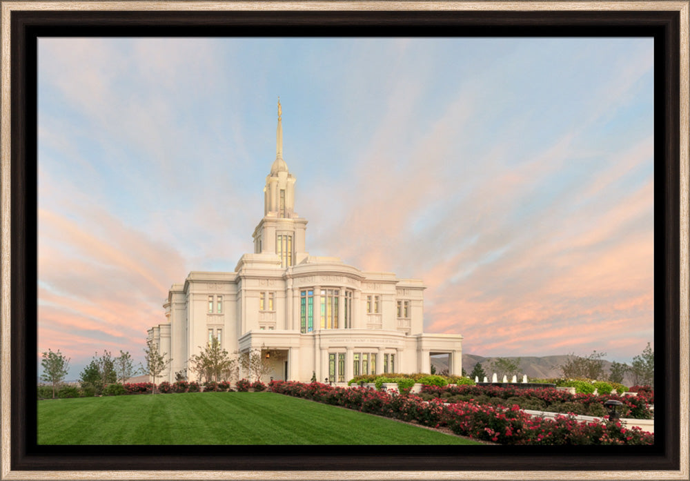 Payson Temple - Evening Glow by Robert A Boyd