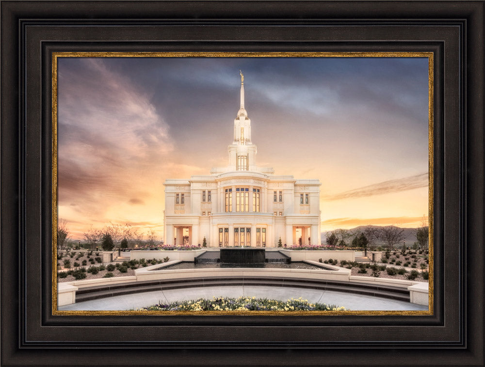 Payson Temple - Chrome Series by Robert A Boyd