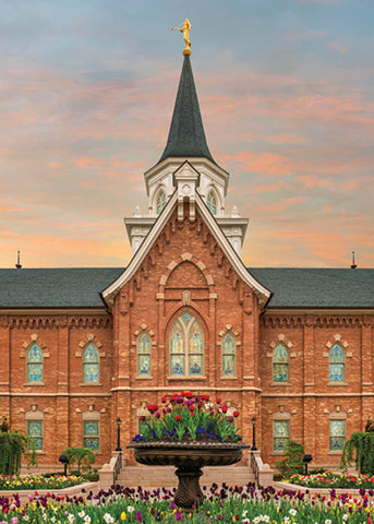 Provo City Center Temple - Garden Flowers 5x7 print