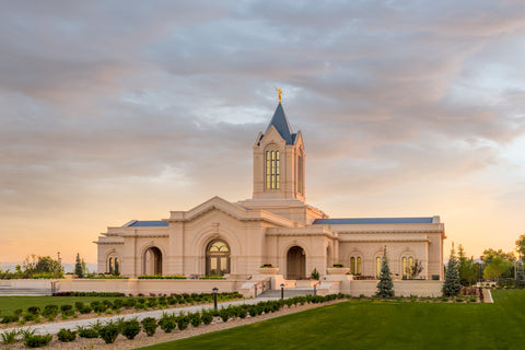 Fort Collins Temple - Sunrise by Robert A Boyd
